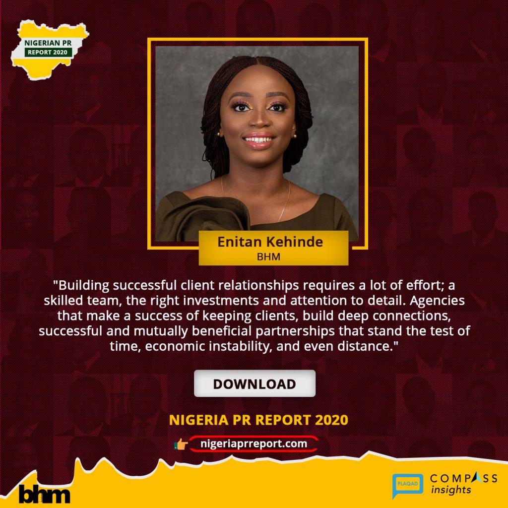 Nigeria PR Report - Enitan Kehinde