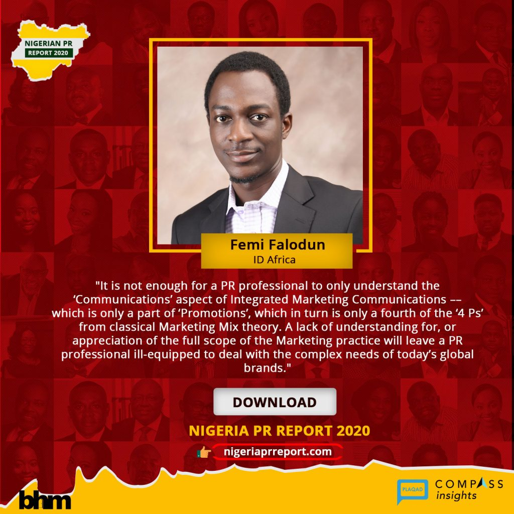 Nigeria PR Report - Femi Falodun