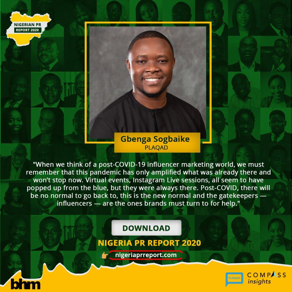Nigeria PR Report - Gbenga Sogbaike