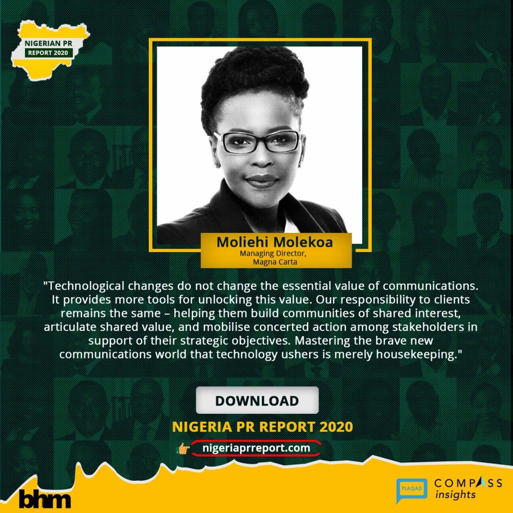 Nigeria PR Report - MoliehiMolekoa