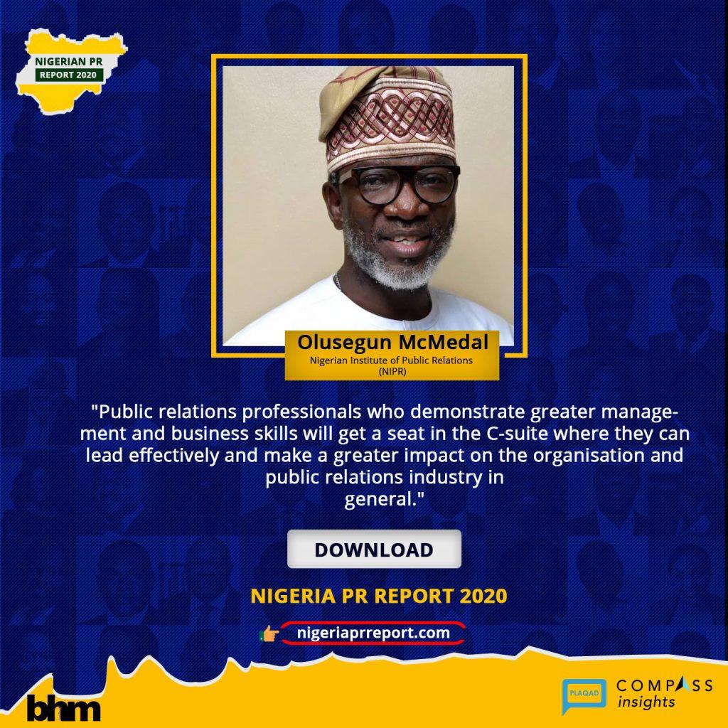 Nigeria PR Report - Olusegun McMedal