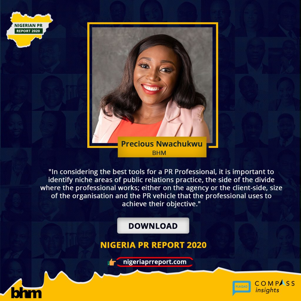 Nigeria PR Report - Precious Nwachukwu