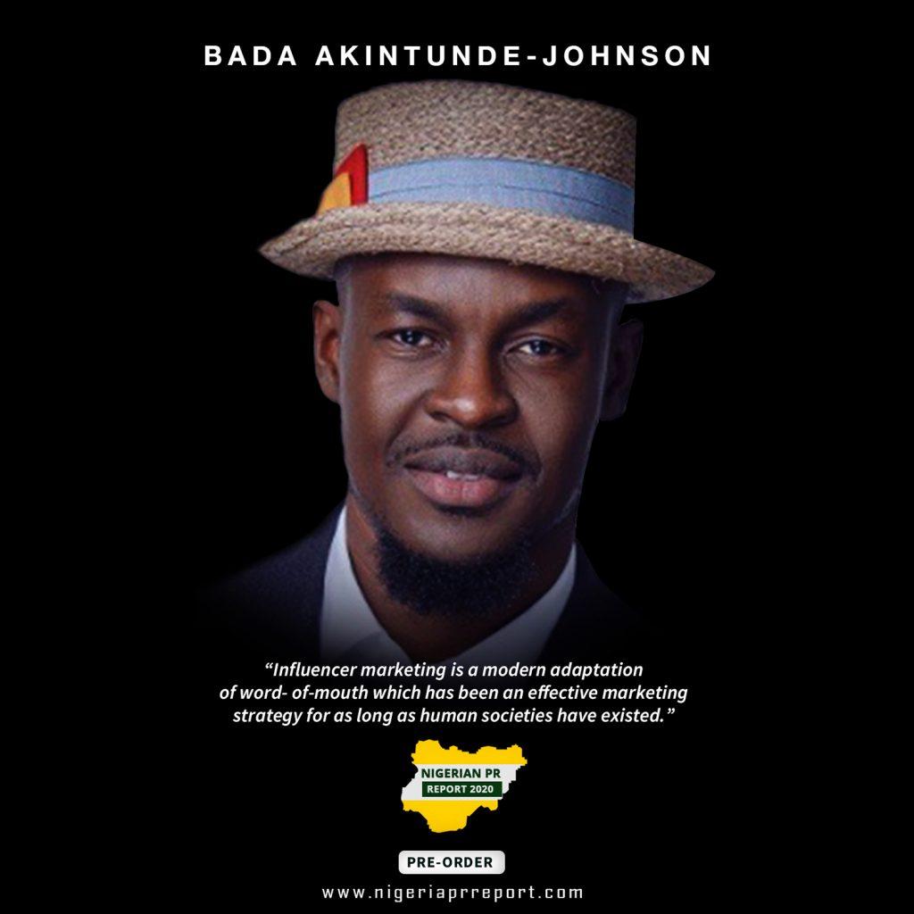 Bada Akintunde-Johnson Nigerian PR Report 2020