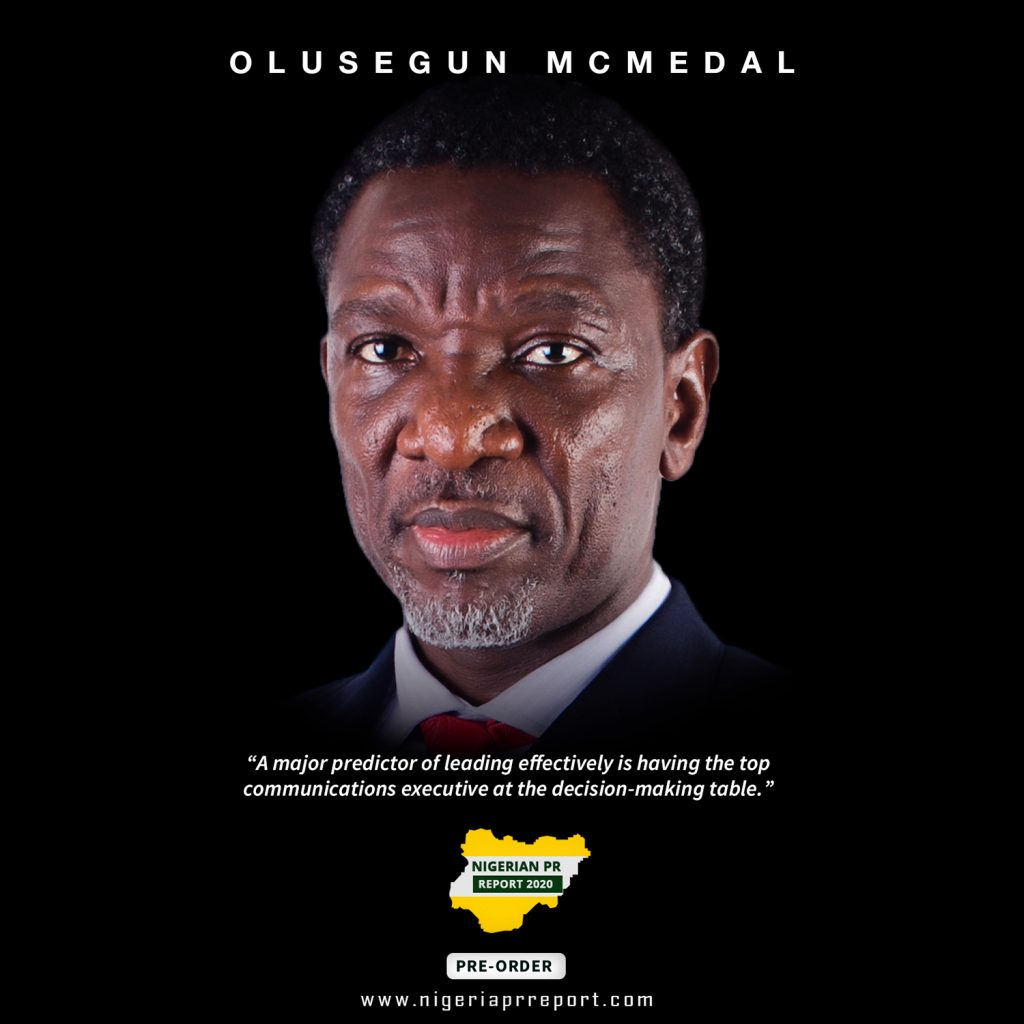 Olusegun Mcmedal Nigerian PR Report 2020