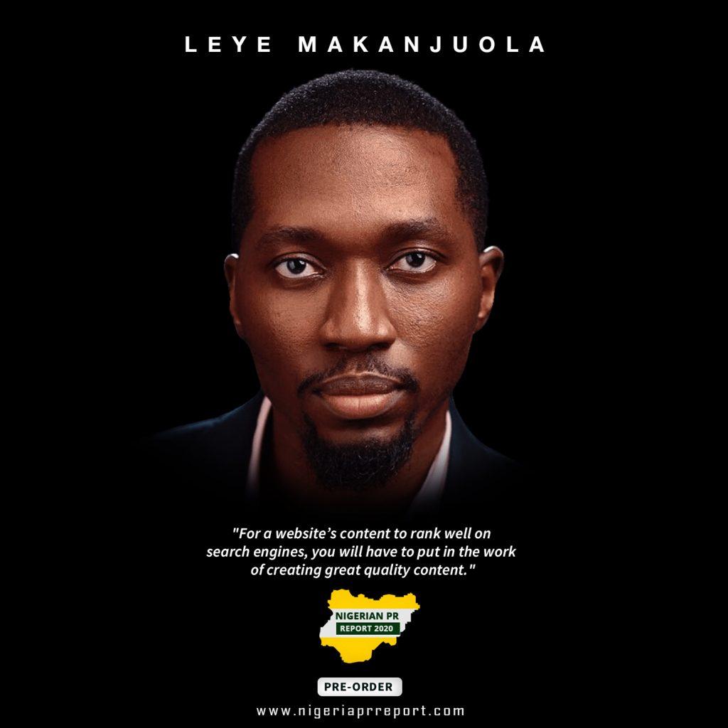 leye makanjuola nigerian pr report 2020